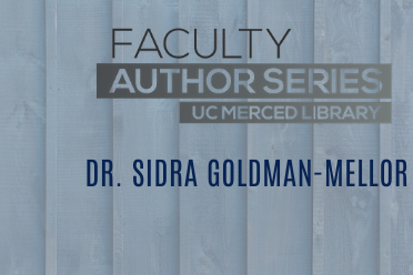 grey fence background with Faculty Author Series logo