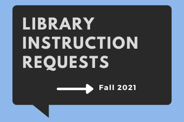 Library Instruction Requests, fall 2021