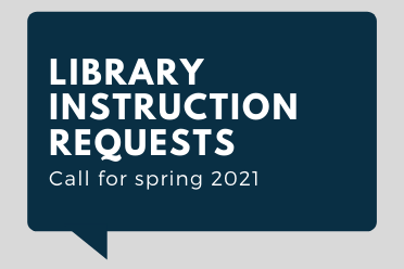 Library Instruction Requests graphic