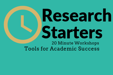 Research Starters with a yellow clock image