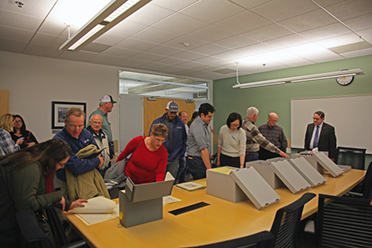 Merced County Cooperative Extension staff tour the archives