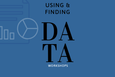 Using & Finding Data Workshops Series Image/Logo