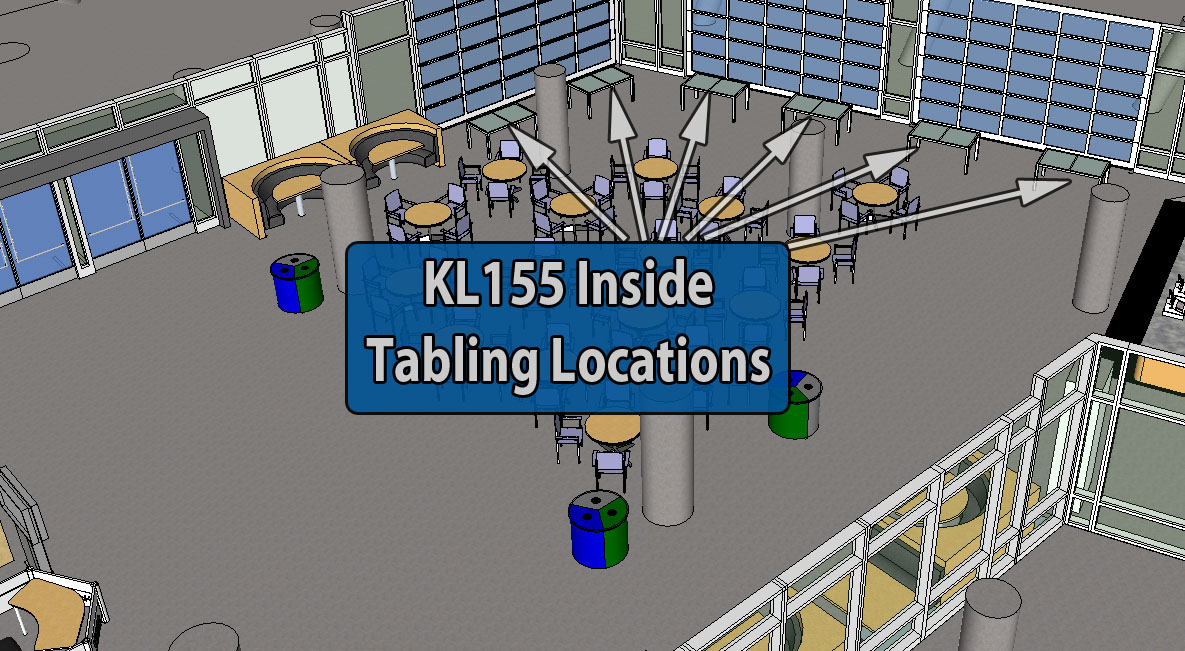 KL155 Indoor Tabling Diagram