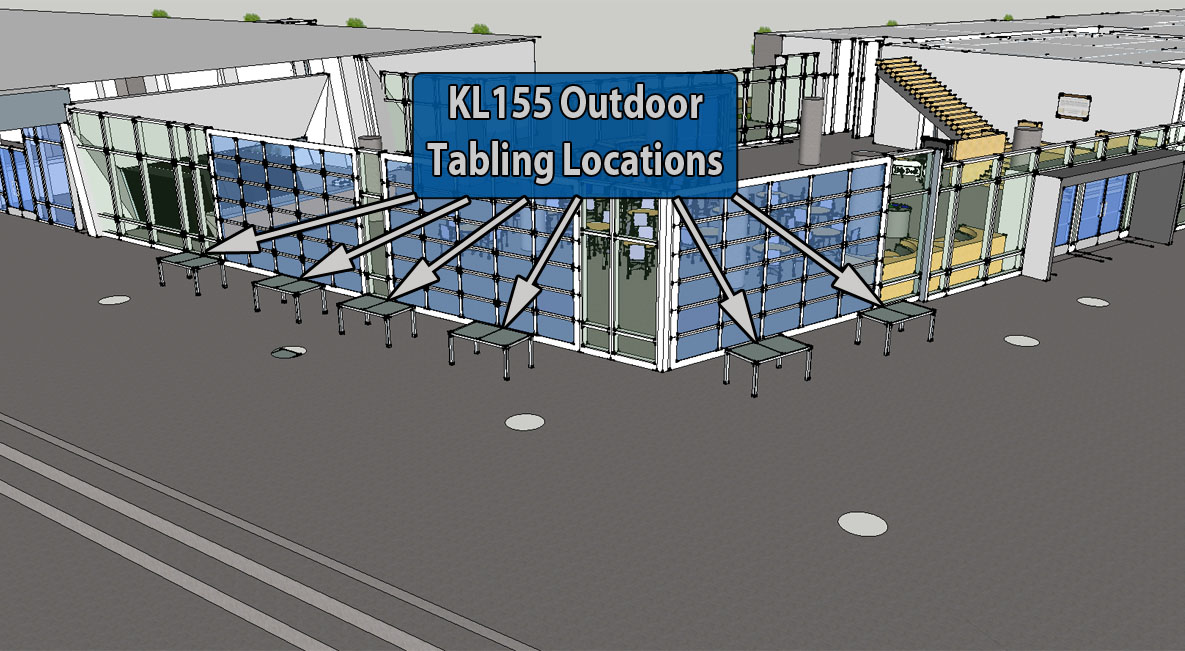 KL155 Outdoor Tabling Diagram