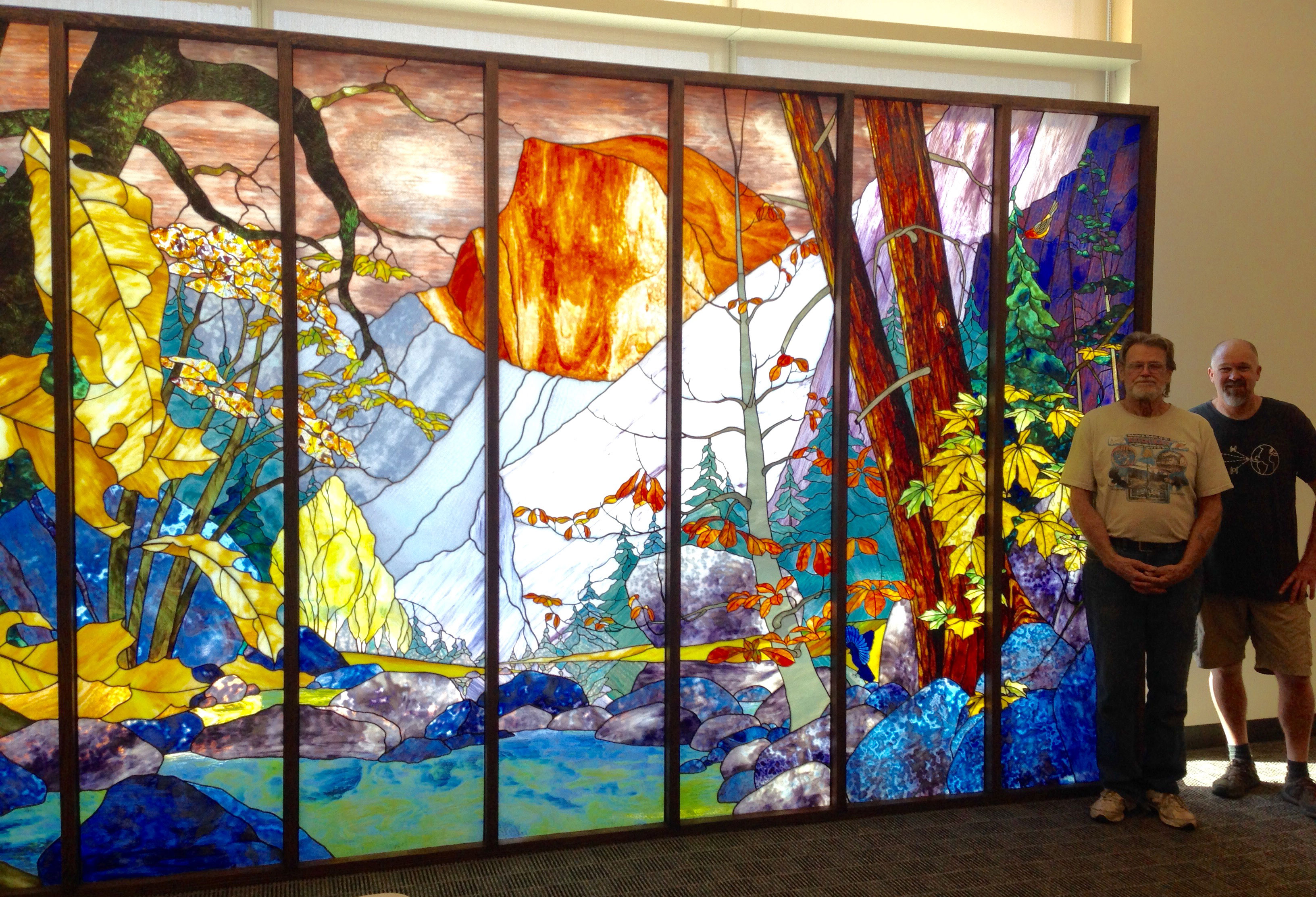 Exhibit tissiack yosemite fall mural uc merced library for 4 seasons mural