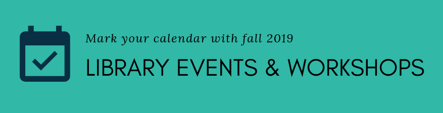 Visit the library calendar to view events and workshops.