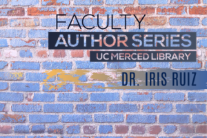 colorful brick background with Faculty Author Series logo in dark blue and gray