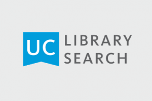 UC Library Search logo shaped like a bookmark