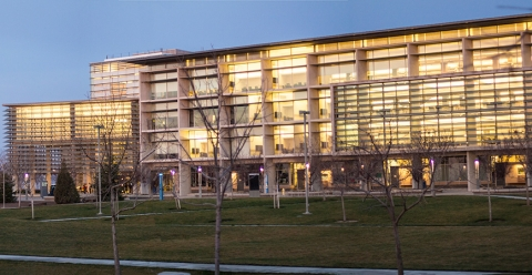 Photo of the exterior of the UC Merced Library