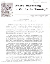 What's happening in California forestry? 1963